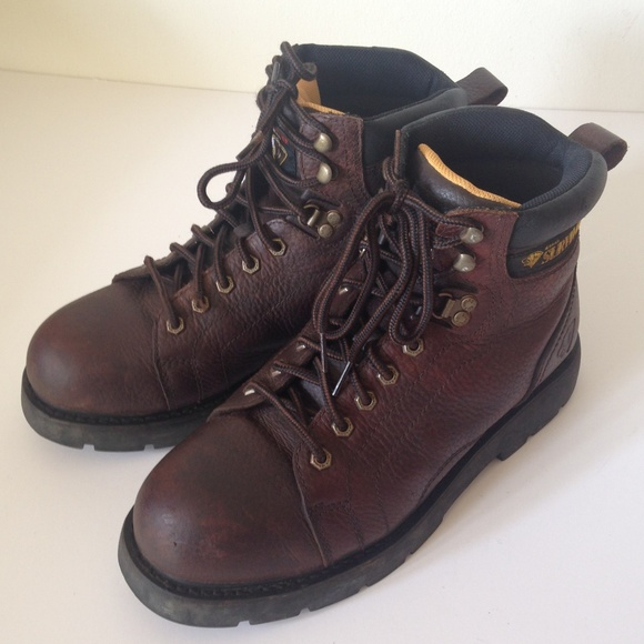 674ee27bc59 Herman Survivors Mens Leather Work Boots Size 10